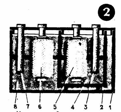 Аккумулятор состоит из основного сосуда 1, вспомогательного сосуда 2...